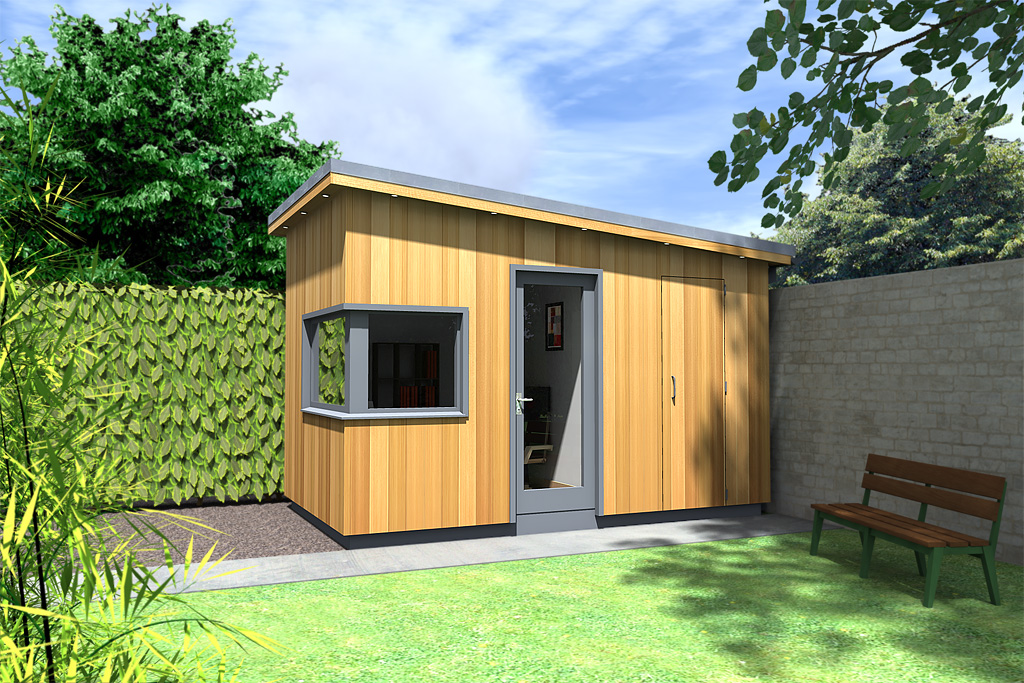 Garden room design idea moderno 20120526bmcd ecos for Garden office and shed