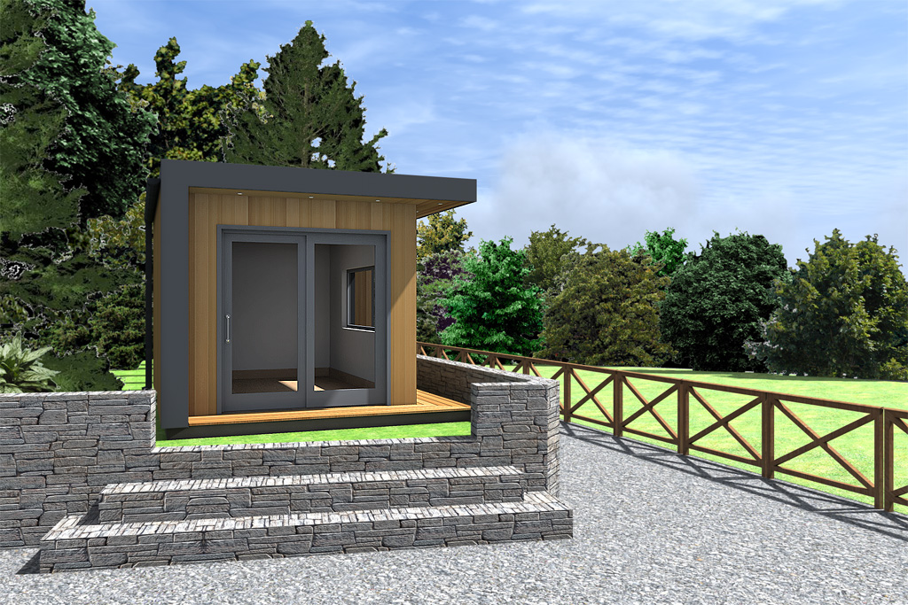 Modern garden office design idea cubeco 20120707pt for Modern garden office