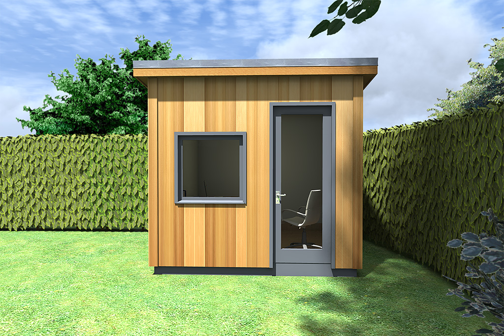 Modern home office pod design idea moderno 20121117bh for Garden office design
