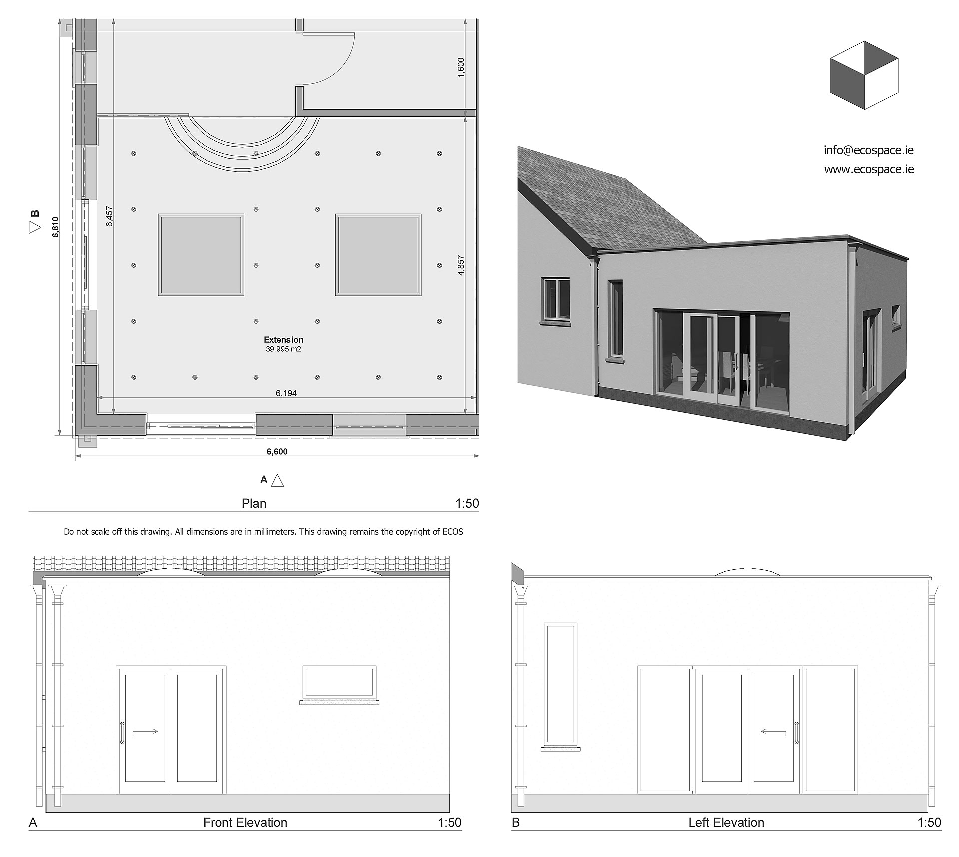 Living room house extension design idea. Dublin, Ireland