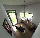 garden office pod interior