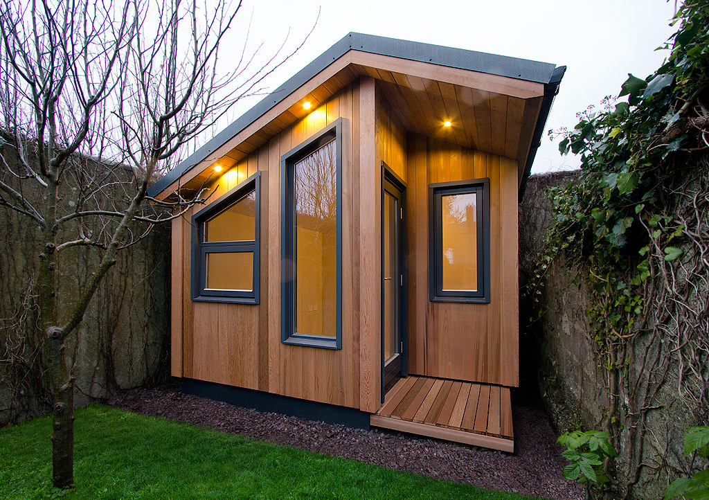 Garden rooms design ideas garden room plans ecos ireland for Garden house office