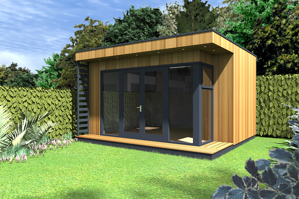 Contemporary insulated garden room cubeco ecos ireland for Garden room definition