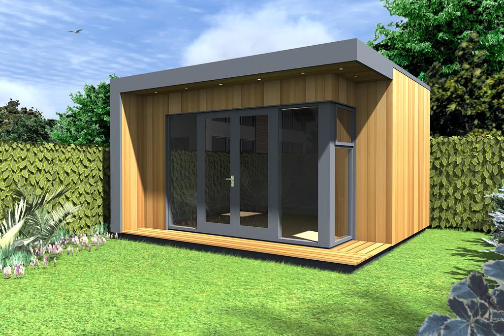 contemporary insulated garden room cubeco ecos ireland. Black Bedroom Furniture Sets. Home Design Ideas